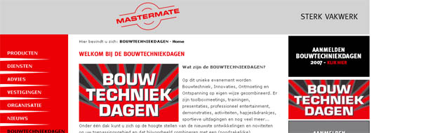 click here to go to the mastermate bouwtechniek dagen site ...