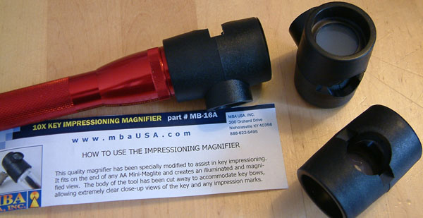MBA 10X magnifier impressioning tool