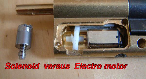solenoid vs electro motor