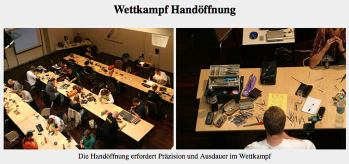 German lockpick championships organized by SSDeV