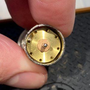 Drive pin holes.